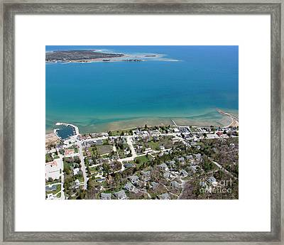 Framed Print featuring the photograph B-024 Baileys Harbor Town Wisconsin by Bill Lang