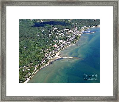 Framed Print featuring the photograph B-025 Baileys Harbor South Shoreline Wisconsin by Bill Lang