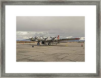 B-17 Flying Fortress Framed Print by Allen Sheffield
