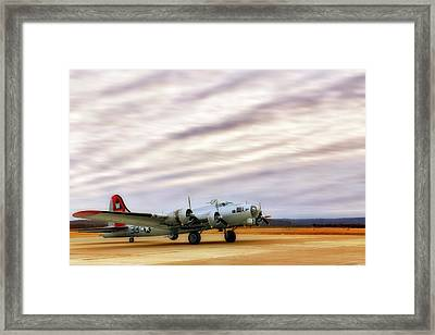 Framed Print featuring the photograph B-17 Aluminum Overcast - Bomber - Cantrell Field by Jason Politte