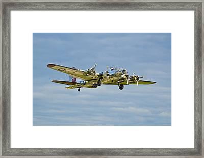 B-17 Aluminum Overcast Framed Print