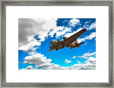 B-17 Approach Framed Print by Jim Harris