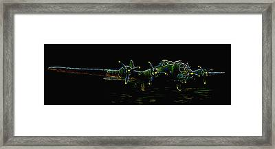 B-17 At Rest Framed Print by Tim Tompkins