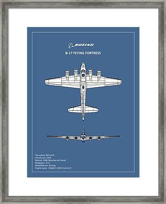 B-17 Flying Fortress Framed Print by Mark Rogan