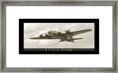 B-17 Flying Fortress Show Print Framed Print