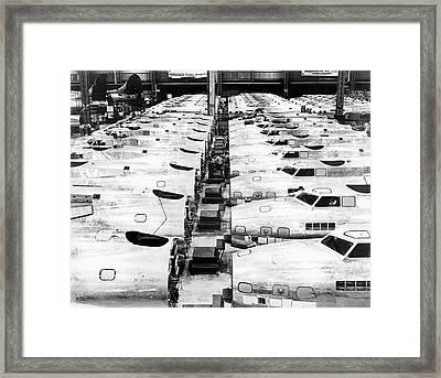 B-17 Fortress Factory Framed Print by Underwood Archives