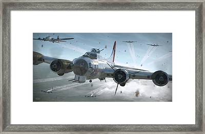 B-17g Hikin' For Home - Painterly Framed Print