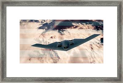 B-2  Respect Framed Print by Kevin  Sherf