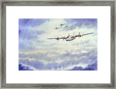 B-24 Liberator Aircraft Painting Framed Print by Bill Holkham