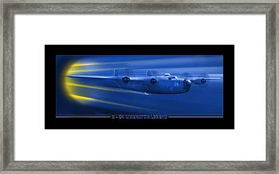 B-24 Liberator Legend Framed Print by Mike McGlothlen