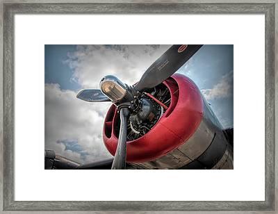 Framed Print featuring the photograph B-24j Liberator Engine II by Kristia Adams