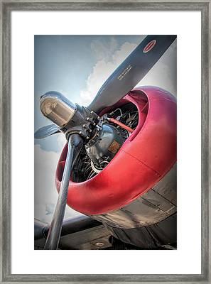 Framed Print featuring the photograph B-24j Liberator Engine by Kristia Adams