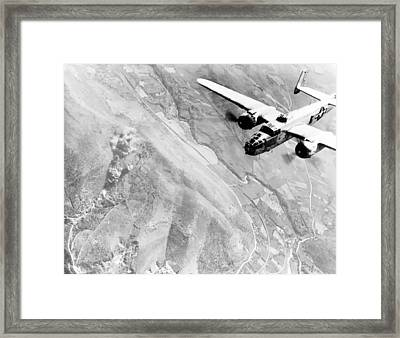 B-25 Bomber Over Germany Framed Print