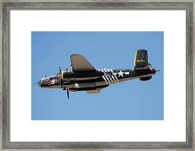 B-25 Flyby Framed Print
