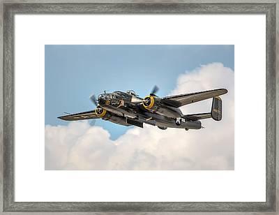 B-25 Georgie's Gal Framed Print by Bill Lindsay