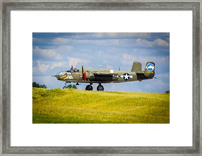 B-25 Landing Original Framed Print