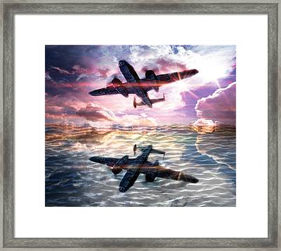 Framed Print featuring the digital art B-25b Usaaf by Aaron Berg