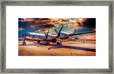 Framed Print featuring the photograph B-29 by Steve Benefiel