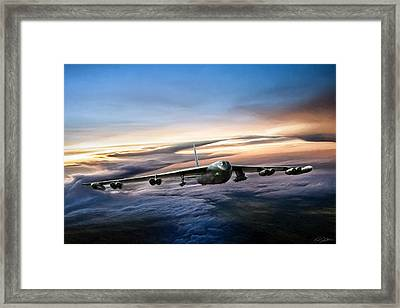B-52 Inbound Framed Print by Peter Chilelli