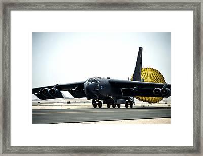 B-52 Landing Framed Print