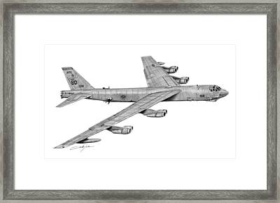 B-52h Stratofortress Framed Print by Dale Jackson