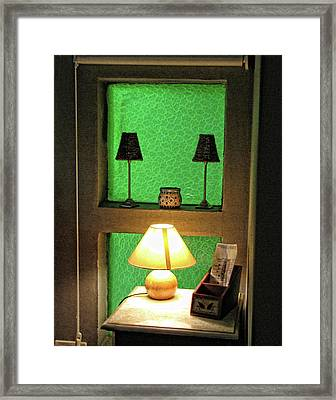 B And B Nightstand Framed Print