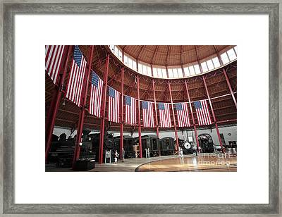 B And O Museum Roundhouse In Baltimore Maryland Framed Print by William Kuta