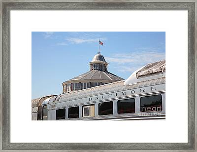 B And O Railroad Museum In Baltimore Maryland Framed Print by William Kuta