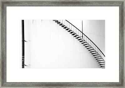 B And W Stairs Framed Print