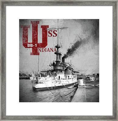 B B 1 Uss Indiana Framed Print