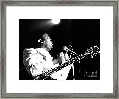 B B King 1978 Framed Print by Chris Walter