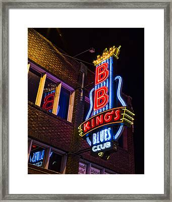 B B Kings On Beale Street Framed Print