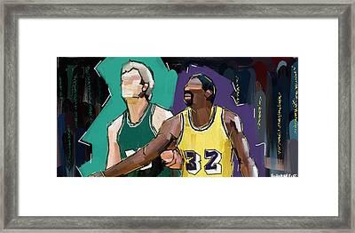 B-ball Legends #1 Framed Print