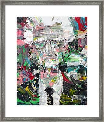B. F. Skinner Portrait Framed Print by Fabrizio Cassetta