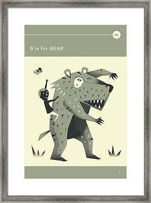 B Is For Bear Framed Print