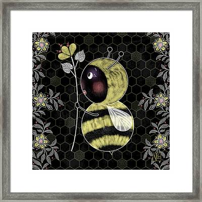 B Is For Bumble Bee Framed Print