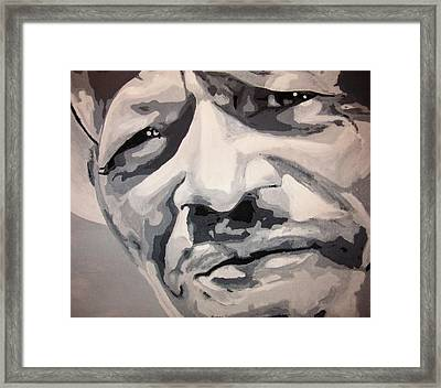 B-l-u-s-e Framed Print