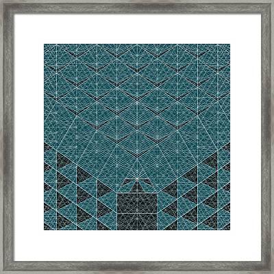 B - N W B  -  Blue Netwireblast Framed Print