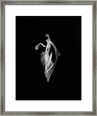 B/w Flame 7092 Framed Print
