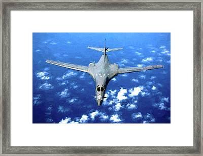 B1-b Air Force Blue Framed Print by JC Findley