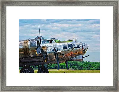 B17 Bomber Side View Framed Print by Thomas Woolworth
