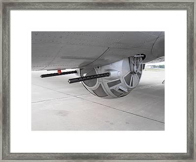 B17 Bottom Turret  Framed Print