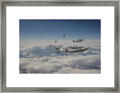 Framed Print featuring the digital art B17 - Luftwaffe Battleground by Pat Speirs