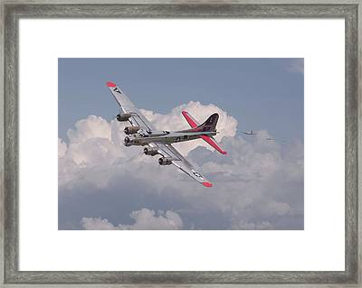 Framed Print featuring the photograph B17 - The Last Lap by Pat Speirs