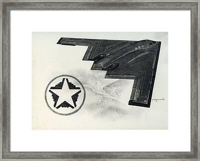 B2 Spirit Batwing Framed Print by Mark Jennings