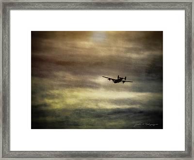 B24 In Flight Framed Print