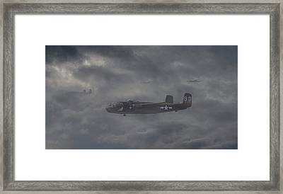 Framed Print featuring the digital art B25 - 12th Usaaf by Pat Speirs