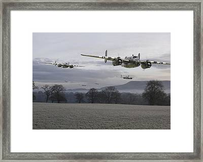 B25 Strike Package Framed Print by Pat Speirs