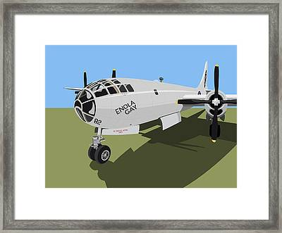 B29 Superfortress Framed Print by Michael Tompsett