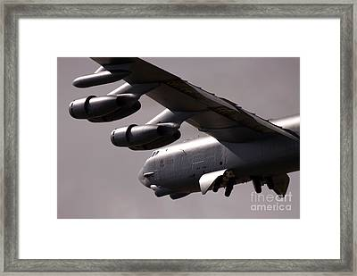 B52 Framed Print by Angel  Tarantella